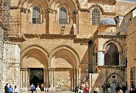 Main Entrance to the Church of the Holy Sepulchre.