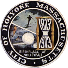 The Obverse Side Of The Cityu0027s Centennial Seal, Prominently Featuring  Volleyball, As Well As Water Skiing On The Connecticut River, And The  Former Mount Tom ...