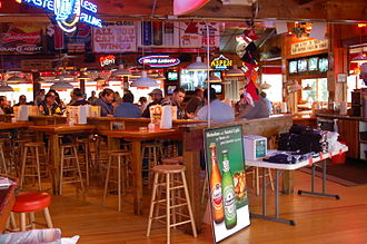 Hooters - The interior of a Hooters Restaurant in Chattanooga, Tennessee, in 2006.