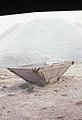 Hopper and sea salt heap. San Fernando. Cadiz. 1975 (37756941091).jpg