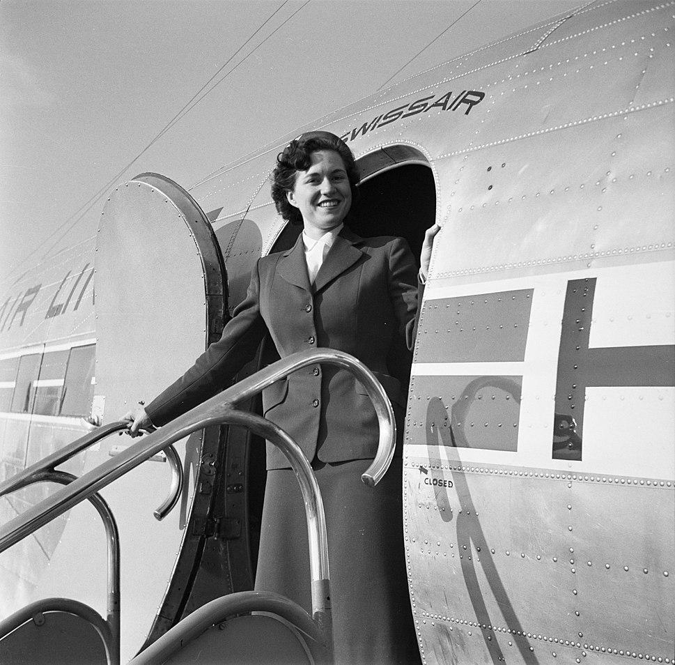 Hostess der Swissair 1953