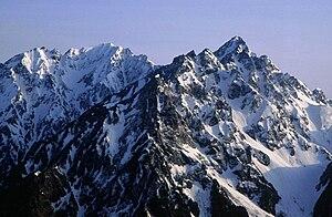 Mount Hotakadake - Mount Hotaka from Tokugō-tōge