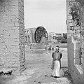 Houten waterrad aan de Orontes in Hama Kinderen spelend in de rivier, Bestanddeelnr 255-6007.jpg