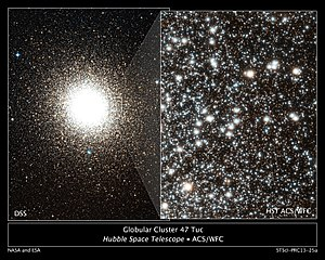 47 Tucanae - Image: Hubble finds evidence of multiple stellar populations in globular cluster 47 Tucanae