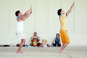 Ipu - Kumu Kula Abiva played Ipu Heke while his dancers danced