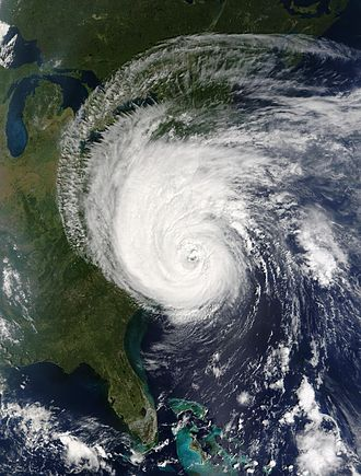 Hurricane Isabel - Hurricane Isabel making landfall in North Carolina on September 18