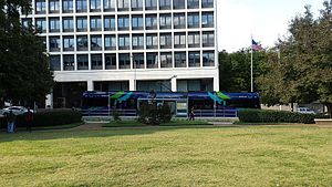 Hurt Park (Atlanta) - Image: Hurt Park streetcar station in downtown Atlanta
