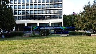 Hurt Park (Atlanta) - Image: Hurt Park streetcar station in downtown Atlanta