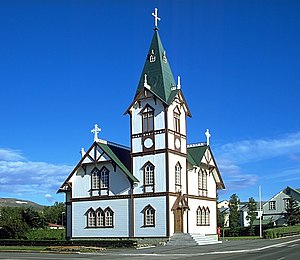 Church of Húsavík, Iceland