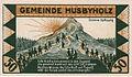 Husbyholz, Notgeld, 1921, 50 Pfennig, Chaussee, Rückseite.jpg