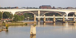 I-35W Saint Anthony Falls Bridge - Bridge on September 20, 2008.