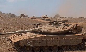188th Armored Brigade - A Merkava Mk.3 company in training, northern Israel.