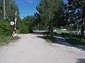 IFI herbege Parkplatz, Schranke, 2021 Velence.jpg