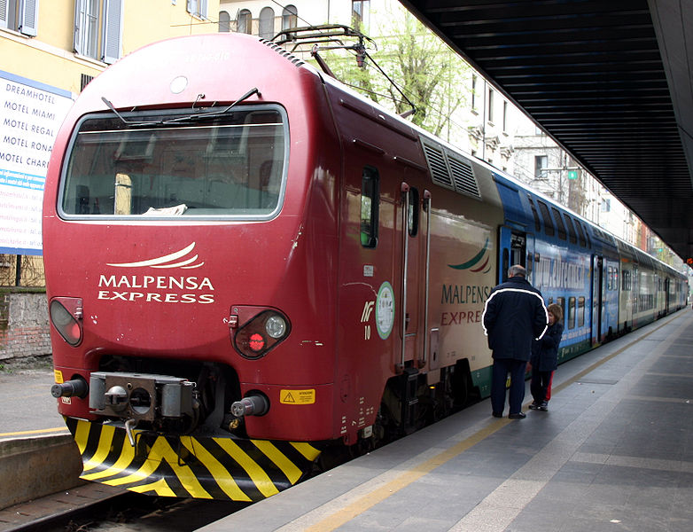 Trem de Malpensa para Milano Centrale