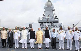 Kolkata-class destroyer - INS Kolkata commissioning ceremony