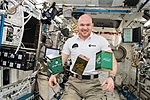 ISS-57 Alexander Gerst with experiments in the Kibo lab.jpg