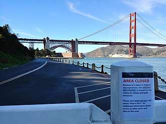 2018–19 United States federal government shutdown - Fort Point, San Francisco under shutdown