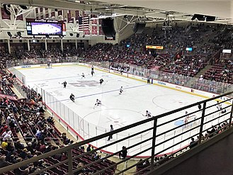 "An ice hockey game played at ""Kelley Rink,"" Conte Forum. Ice Hockey Conte Forum.jpg"