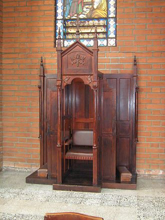 Confession (religion) - A confessional in Colombia