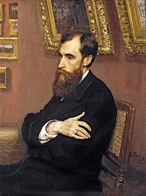 Pavel Tretyakov - Tretyakov's portrait by Repin (1883).