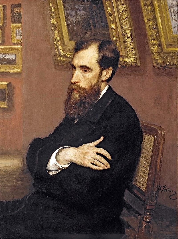 Портрет Третьякова кисти Ильи Репина, ГТГ, 1883