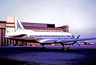 Malév Hungarian Airlines - Ilyushin Il-14P of Malev in 1966