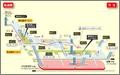 Imaike station map Nagoya subway's Sakura-dori line 2014.png