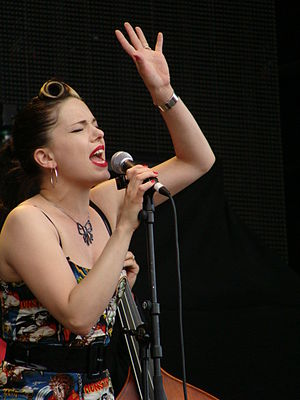 Imelda May - May at the Azkena Rock Festival, Spain, 2010