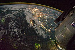 India-Pakistan Borderlands at Night.JPG