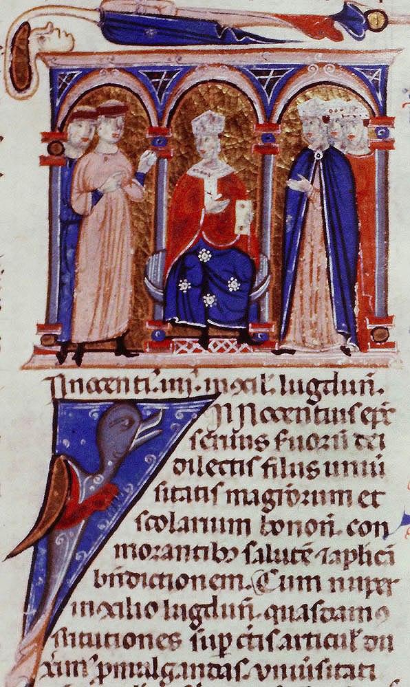Innocent IV - Council of Lyon - 002r detail