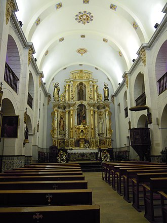 Sant Josep de sa Talaia - Image: Inside San Jose Church Ibiza 19 May 2011