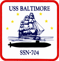 Insignia of SSN-704 USS Baltimore