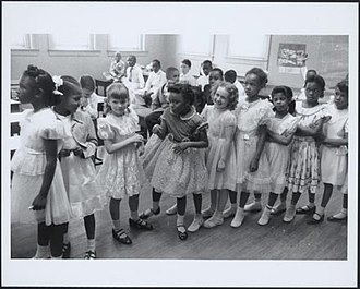 Civil rights movement - School integration, Barnard School, Washington, D.C., 1955
