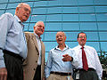 Intel CEOs Gordon Moore Craig Barrett Andy Grove Paul Otellini (8575080529).jpg