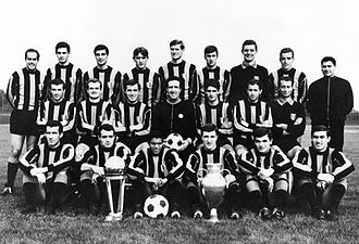 European Cup and UEFA Champions League history - The Inter team which won the European Cup in 1965.