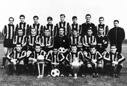The Inter team which won the Intercontinental Cup in 1965 cd1a2b12c