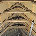 Interieur, detail van de kapconstructie, met telmerken op balken - Ezinge - 20380883 - RCE.jpg