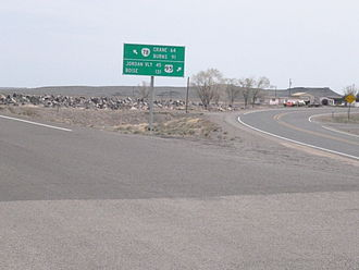 U.S. Route 95 - Intersection of US 95 and Oregon Route 78