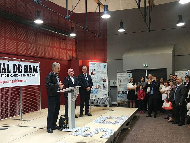 Intervention de Jean-Pierre de Kerraoul à l'occasion des 150 du Journal de Ham, le 17 septembre 2016, à la médiathèque du Pays Hamois, à Ham (Somme)