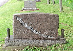 Iorwith Wilbur Abel - Tombstone in Magnolia Cemetery