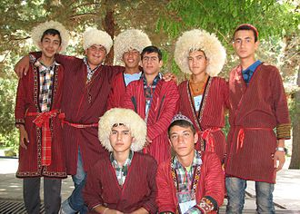 Iranian Turkmen - Image: Iranian students 30 June 30 2013 in Baghrud Nishapur 30