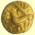 Iron Age Coin, Quarter Stater Gallic import (obverse) (FindID 658457).jpg