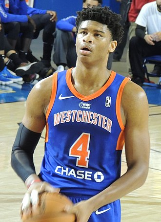 Isaiah Hicks - Hicks playing for the Westchester Knicks