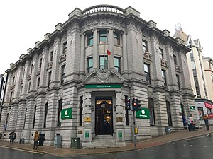 Isle of Man Bank - The Head Office (in Douglas) of the Isle of Man Bank Limited.
