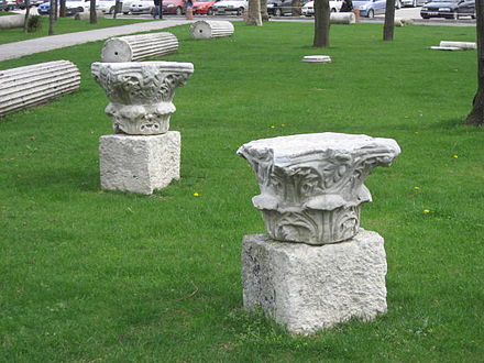 Late Roman and early Byzantine remains at the Istanbul University campus next to Beyazit Tower. Istanbul University campus ruins March 2008d.JPG