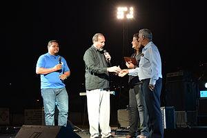 Jorge Armando Pérez - J.A. Pérez, joined by the Mayor of the City of Turrialba, Costa Rica, during his 2014 Republic of Joy Festival.