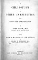 "J. Snow, ""Chloroform and other anaesthetics"", title page Wellcome L0000578.jpg"