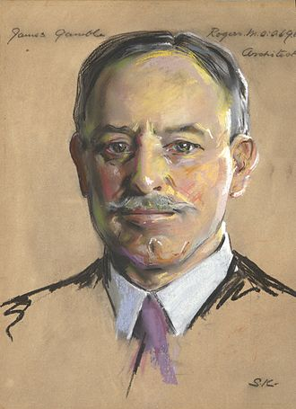 James Gamble Rogers - Portrait by William Sergeant Kendall