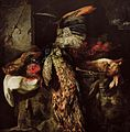 Jan Fyt - Dead game with dead peacock and a hog's head.jpg