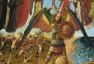 Crucifixion and Last Judgement diptych - Image: Jan van Eyck Diptych the Fall 3